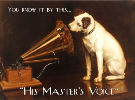 HMV Dog and Gramophone Metal Wall Sign (3 sizes)